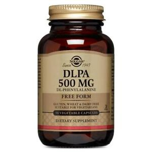 Solgar DLPA 500 mg - 50 Vegetable Capsules, Clearance for exp date 02/2021