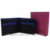 NEW Mens Quality BLACK or Brown LEATHER WALLET by AXIS Gift Boxed MALA Style