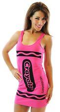 CHOOSE COLOR: Womens Juniors Art Crayola Crayon Fancy Costume Tunic Tank Dress
