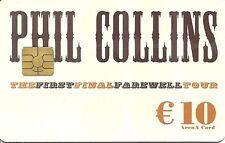 RARE / CARTE TELEPHONIQUE - PHIL COLLINS : GENESIS / PHONECARD TELEPHONE CARD