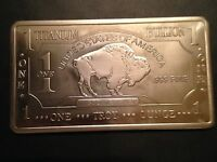 1-TROY OUNCE/OZ OF .999 Pure TITANIUM Metal 1  Buffalo Bars/INGOTS/Bullion  Lot