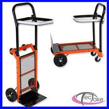 Steekwagen steekkar steekwagens chariot oranje zwart belastbaar tot 80 kg