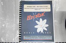 Operator's Manual: Hickok 533A Tube Tester + Extra Info+
