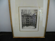Vintage Andre Renoux limited edition Etching, print, unusual and rare + book