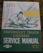 1971 Chevrolet Truck Chassis Shop Service Manual 40-60 71 Chevy