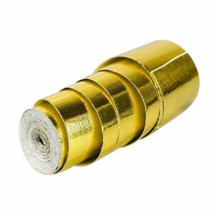 1 Roll Reflective Gold Heat Shield Tape For Thermal Racing Engine 2''x15Ft Trim