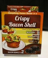 Crispy Bacon Bowl Shell Maker Dishwasher Safe - 2 bowls per pack - New In Box