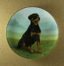 Rottweilers AT ATTENTION Plate Dog Puppy John Silver Danbury Mint Charming