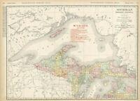 1908 MICHIGAN Northern Peninsula Railroads