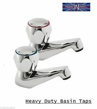 Bathroom Contract Taps For Basin  Sink - Hot & Cold Set - Chrome
