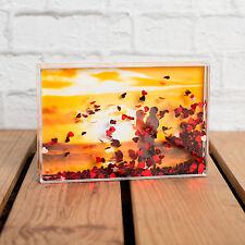 LOVE HEART GLITTER 6x4 PHOTO BLOCK - BEAUTIFUL ROMANTIC GIFT IDEA
