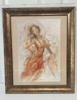 Pre Owned Golden Dreams 1 Gary Benfield Framed Artwork 19 X 23 Signed