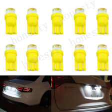 10X T10 Car 1 LED Side Dashboard Wedge Light Bulb License Plate Lamp Yellow D12V