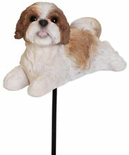 Vivid Arts - Plant Pal - Brown Shih Tzu Dog - Garden Ornament/Decoration/Gift