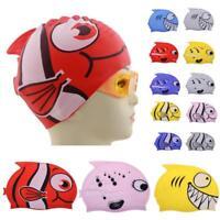 Swimming Cap Pool Cute Cartoon Children Waterproof Protect Ears Boy Girl Sports