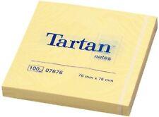 Haftnotizen Tartan Notes 07676 76 X 76mm 100 Blatt gelb