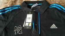 ADIDAS LONDON 2012 Olympic Polo Shirt New With Tags 100% cotton