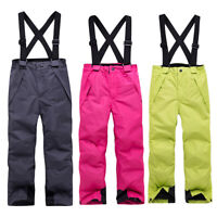 Kids Ski Snow Pants Waterproof Winter Windproof Outdoor Winter Snowboard Pa NTAT