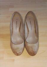 Dorothy Perkins Wide Fit Beige/Tan /Nude High Heel Court  Shoe Size 7/41