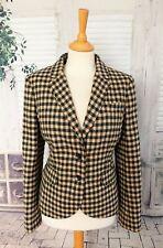 BODEN Moon tweed green & pink Wool jacket size 14