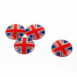 4x Wheel Center Hub Cap Emblem Badge decal Union Jack GB Flag For Mini Cooper GB