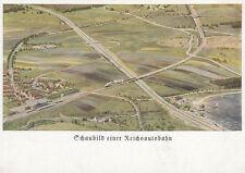 Postcard approx. 9x14 Chart of a Reichsautobahn (g1684)
