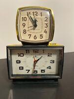 2 Vintage Alarm Clocks - Silicone Clock 4 Jewels Tokyo, Japan - Westclox China