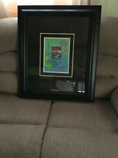 PETER MAX PAINTING ORIGINAL WITHOUT BORDERS SIGNED POP ART