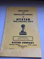 HYSTER 80R LOGGING ARCH Parts Manual Guide book list D8 Crawler Tractor spare