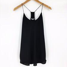 Stacatto Women's Small Solid Black Racerback Camisole Thin Straps