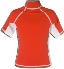 Red Child Rash Guard Kids Wetsuit Swim Shirt 50+ UV Protection - Size 12