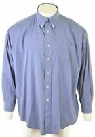 BROOKS BROTHERS Mens Shirt XL Blue Cotton Loose Fit  GB02