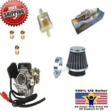 Carb Gy6 60cc Carburetor Scooter Jet Kit Air filter 50cc 49cc 19mm PD19J Taotao