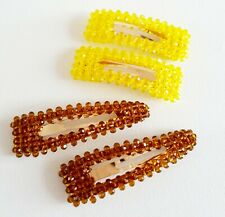 Large Oversize Yellow Brown Crystal Hair Clip Other Bloggers Stories Mango