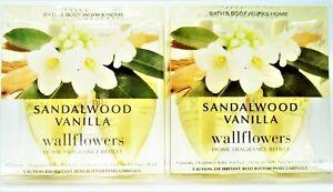 Bath Body Works Home SANDALWOOD VANILLA Wallflower Refill Bulbs, NEW x 2 boxes