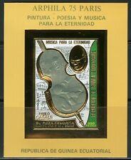 Guinea Equatoriale 1975 ARPHILA Paris , Pablo CASALS Gold foil Mi Bloc A154 imp