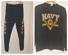 Vintage Soffe Sweats 1990s United States Navy Sweatsuit Men's L/XL Sweat Suit