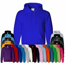 Gildan Heavy Plain Mens & Boys Hoodies Jumper Top Colors Sizes S,M,L,2XL,4XL 5XL