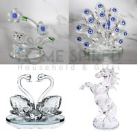 Clear Crystal Figurines Paperweight Animal Collectible Ornaments Wedding Gifts