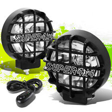 """6"""" ROUND BLACK BODY CLEAR FOG LIGHT/OFFROAD SUPER 4X4 GUARD WORK LAMP+GRILLE"""