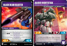 Transformers TCG Black Beam Blaster/Raider Nightstick UT T33/T48