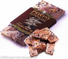 """PSYCHO CHOCOLATE - WITH POPPING CANDY AND NAGA JOLOKIA CHILLI"" 100g Bar"