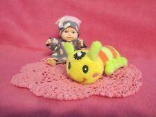 "Berenguer 5"" Look Alike Baby Doll + Night Shirt & Cap+ Caterpillar + Crochet Set"