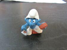 Smurfs Bricklayer Smurf Vintage Rare (e)