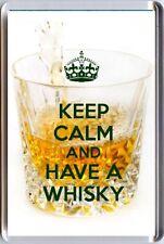Keep Calm und haben einen Whisky mit einem Kristall Glas Bild Kühlschrankmagnet Einzigartig Geschenk