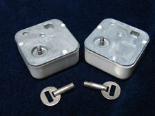 2 NEW SANKYO BRAHMS LULLABY REPLACEMENT WIND UP MUSIC BOX MOVEMENT / SAFETY KEYS