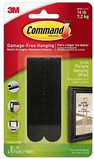 3M Command Picture Hanging Strips  4 x Large Strips