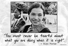 "13""×19"" Inspirational Motivational Poster ROSA PARKS Civil Rights Black History"