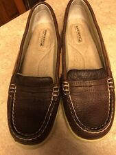 Sperry Top-Sider Women's 6M Pennyfish Slip On Loafers Leather Brown Tan 90542