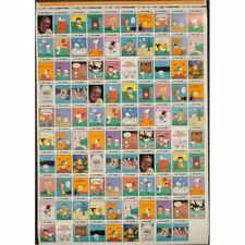 Peanuts Uncut Card Sheet 3 Full Sets 33 Comics Mint w/Descriptions of the Scenes